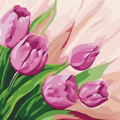 Роспись по номерам Персидские тюльпаны