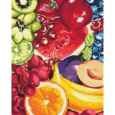 Роспись по номерам Сладкие фрукты