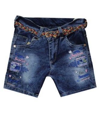 Шорты джинсовые вышивка Деним светлый