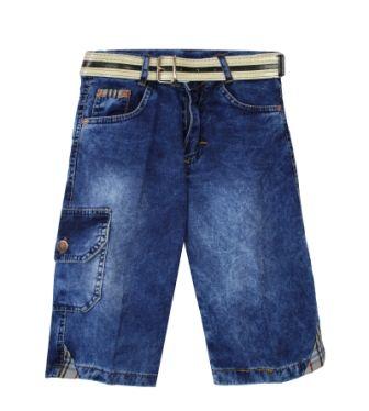 Бриджи джинсовые Вышивка Деним светлый
