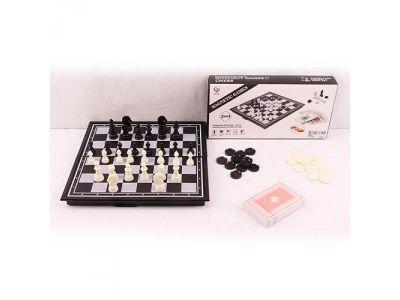 Игра магнитная Шашки - шахматы - нарды  4в1