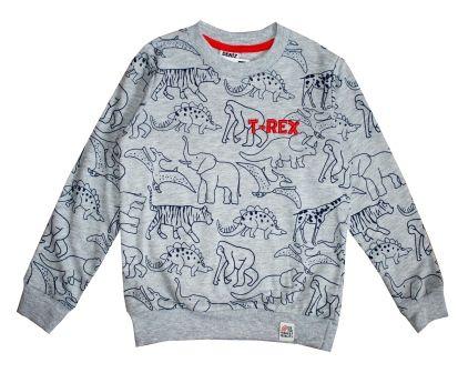 """Джемпер для мальчика """"Динозавр"""" серый Серый"""