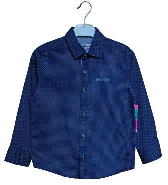 Рубашка мелкий накат Синий темный
