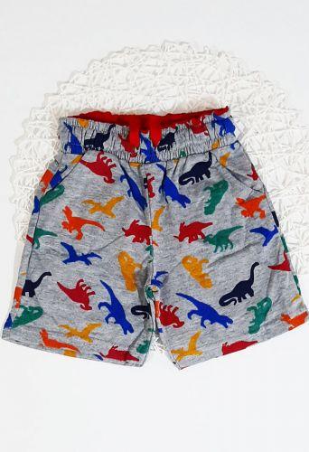 Шорты Динозавры Серый