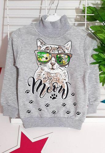 Гольф Meow Серый меланж