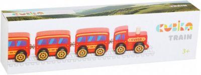 Деревянная игрушка поезд Сubika