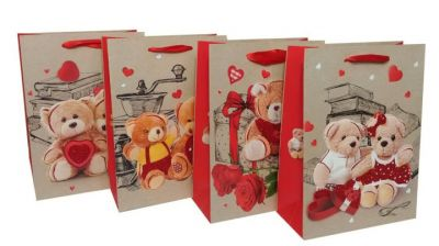 Пакет картон Влюбленный мишка