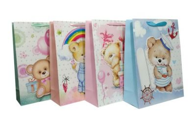 Пакет картон Добрый мишка