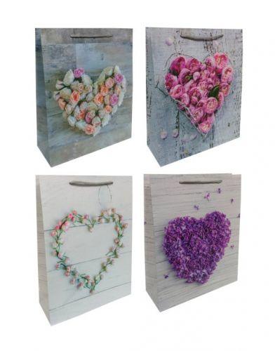 Пакет картон Сердце из цветов