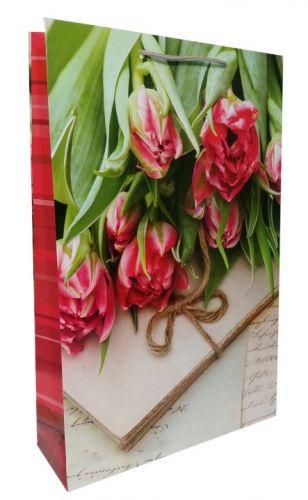 Пакет ламинированый Красные тюльпаны