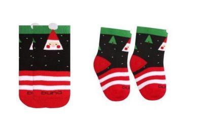 Носки махра Дед Мороз Черный