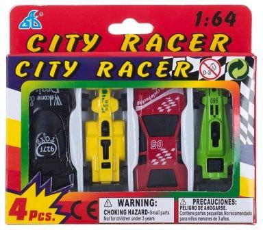 Набор мини машинок CITI RACER 4шт