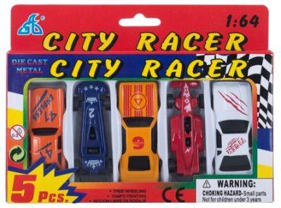 Набор мини машинок CITI RACER 5шт