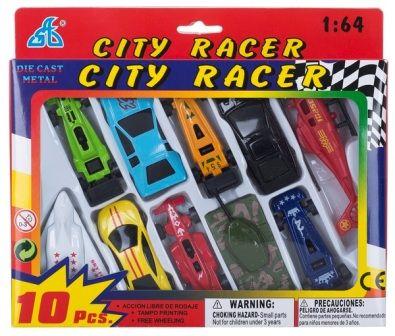 Набор мини транспорта CITI RACER 10шт