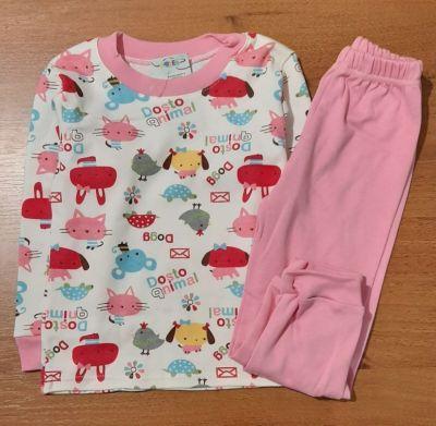 Пижама трикотажная  Зверюшки Розовый