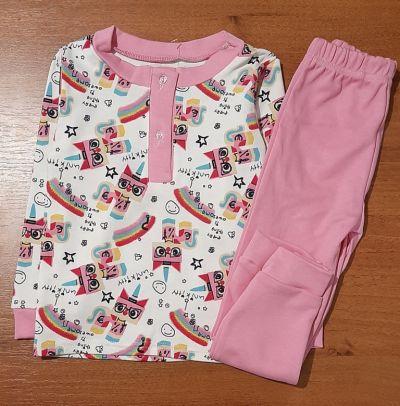 Пижама трикотажная  Единорог Розовый