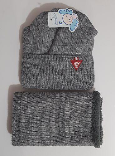 Комплект вязаный шапка и баф Kraft For you Микс