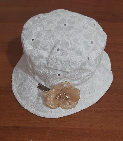 Панама Прошва цветок р44 Белый