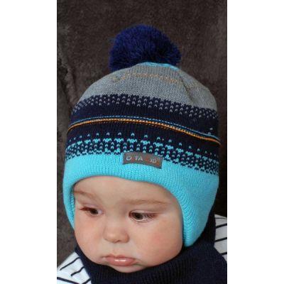 Комплект шапка и баф Olta полосатый Серый