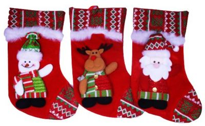 Носок для подарка красный