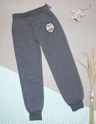 Спортивные брюки Эмблема, начес Серый