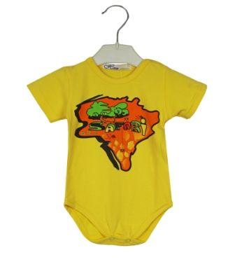 Боди короткий рукав Африка Желтый