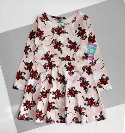 Платье Цветы Розовый