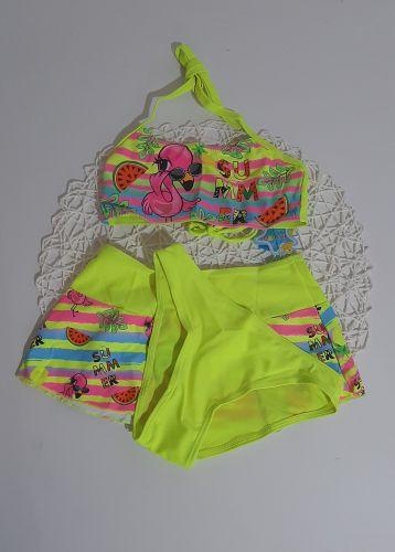 Купальний костюм Тройка фламинго Микс