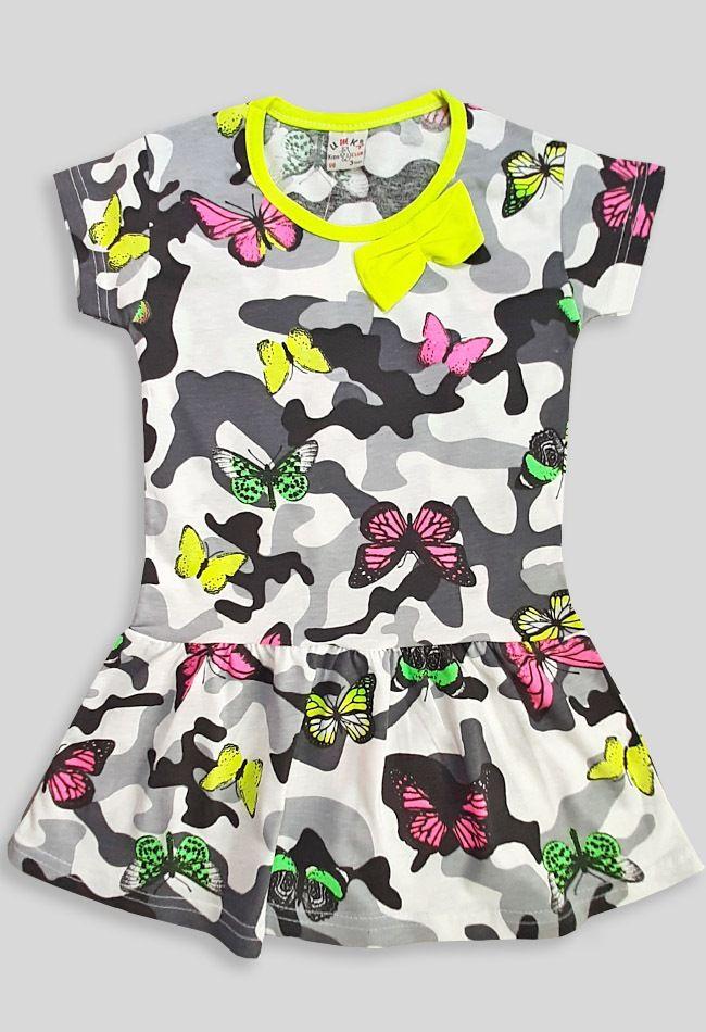 Платье Миилитари,бабочки,бант