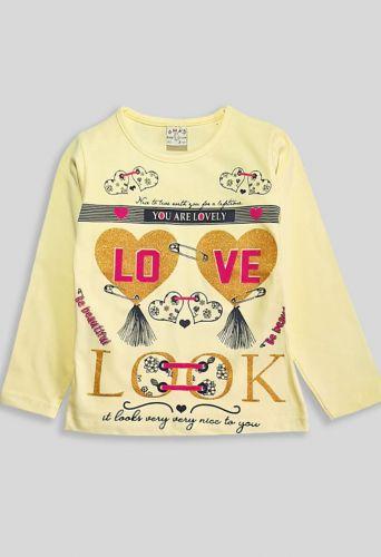 Джемпер LOVE, сердца Желтый
