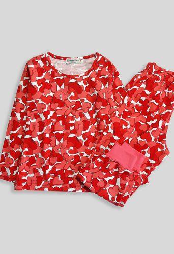 Пижама Сердечки Коралловый