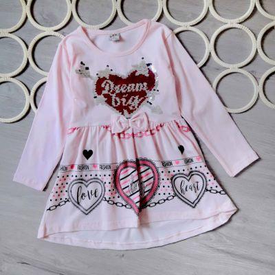 Платье Сова, бантик Розовый