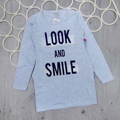 Платье туника LOOK and smile Серый
