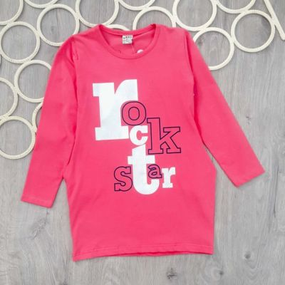 Платье туника Rock star Розовый