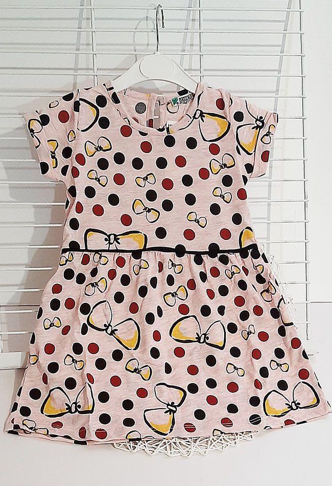 Платье Бантики Светло-розовый