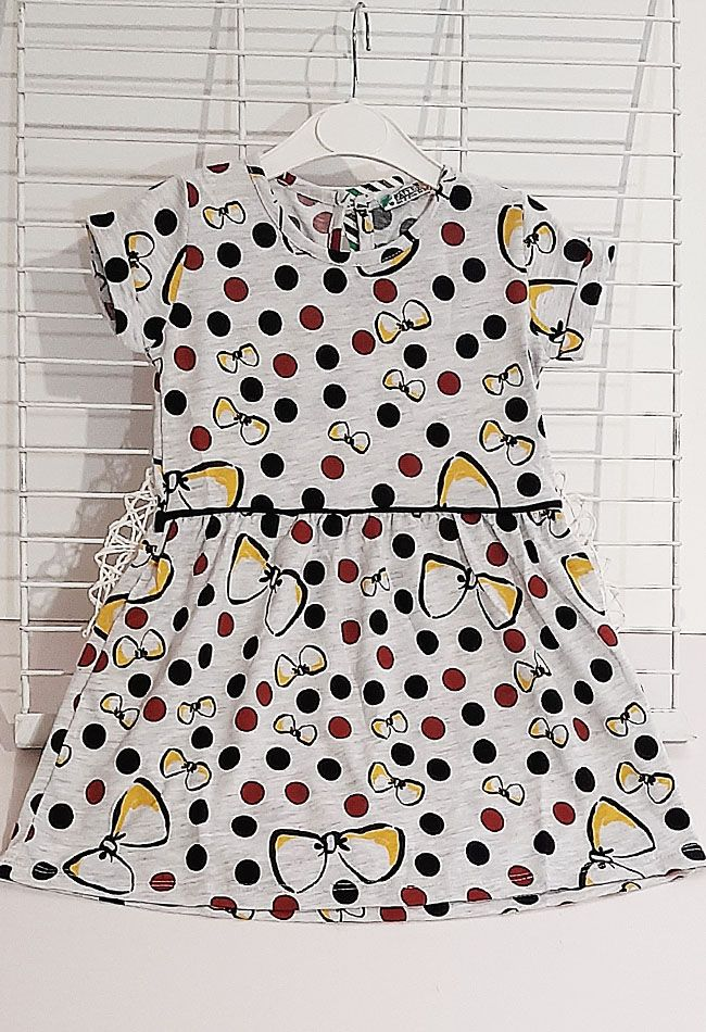 Платье Бантики Серый меланж