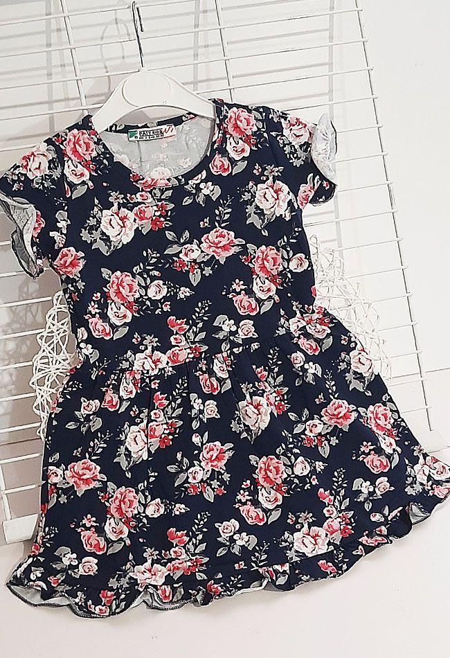 Платье Розочки Синий темный