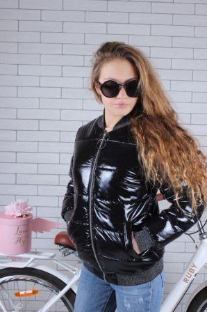 Куртка демисезонная Блеск Черный