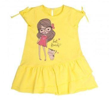 Платье Девочка Желтый