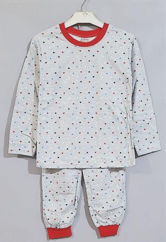 Пижама Сердечки Серый