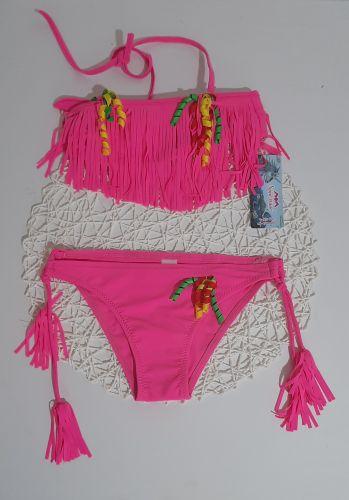 Купальний костюм Бахрома Розовый
