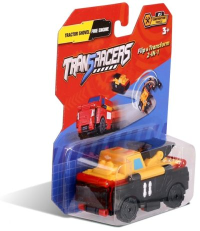 TransRacers машинка 2 в 1 Экскаватор & Пожарная машина