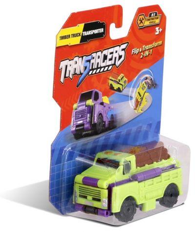 TransRacers машинка 2 в 1 Лесовоз & Транспортер
