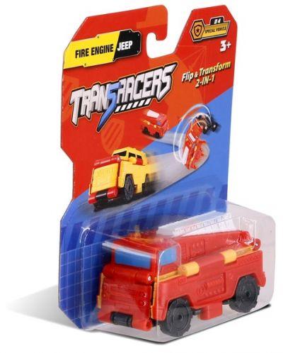 TransRacers машинка 2 в 1 Пожарная машина & Джип