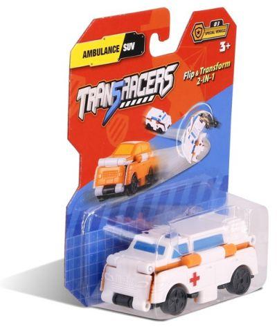 TransRacers машинка 2 в 1 Скорая помощь & Внедорожник