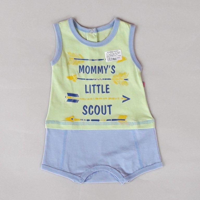 Боди песочник Mommy's little scout Салатовый
