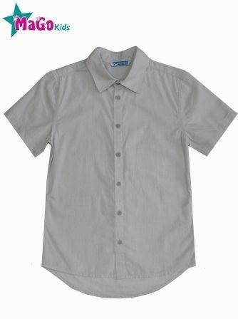 Рубашка короткий рукав Полоса Серый