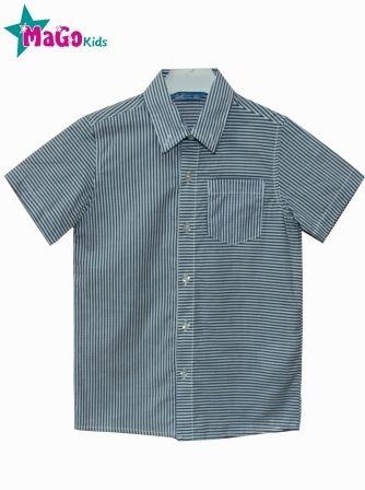 Рубашка короткий рукав Полоса Голубой