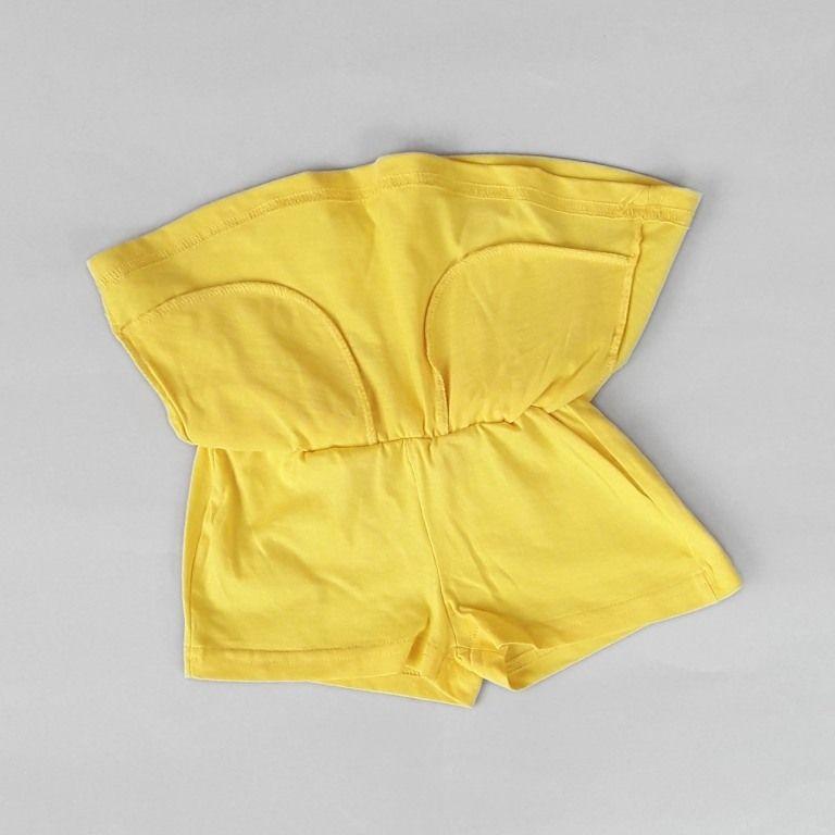 Юбка шорты Два кармашка Желтый