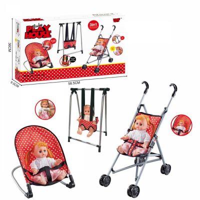 Набор игровой коляска и кукла